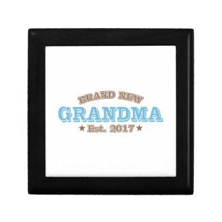 Brand New Grandma Est. 2017 (Blue) Jewelry Boxes