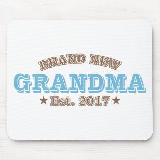 Brand New Grandma Est. 2017 (Blue) Mouse Pad
