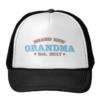 Brand New Grandma Est. 2017 (Blue) Trucker Hat