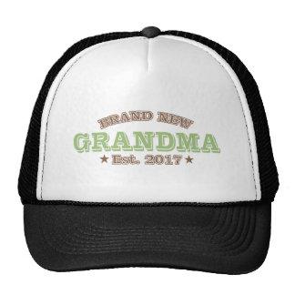 Brand New Grandma Est. 2017 (Green) Trucker Hat