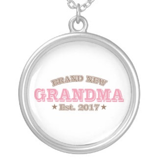 Brand New Grandma Est. 2017 (Pink) Silver Plated Necklace