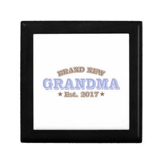 Brand New Grandma Est. 2017 (Purple) Keepsake Boxes