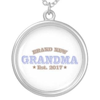 Brand New Grandma Est. 2017 (Purple) Silver Plated Necklace