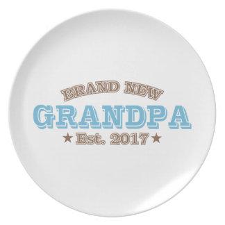 Brand New Grandpa Est. 2017 (Blue) Plates