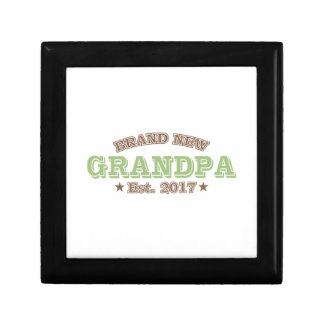 Brand New Grandpa Est. 2017 (Green) Gift Box