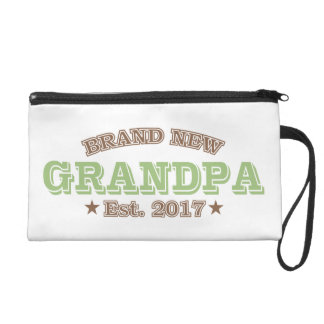 Brand New Grandpa Est. 2017 (Green) Wristlet Clutches