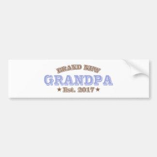 Brand New Grandpa Est. 2017 (Purple) Bumper Sticker