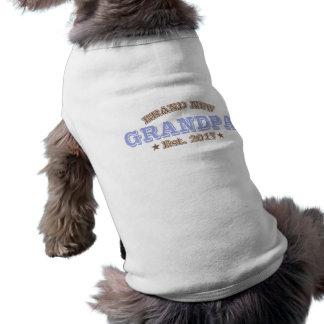 Brand New Grandpa Est. 2017 (Purple) Dog Tee