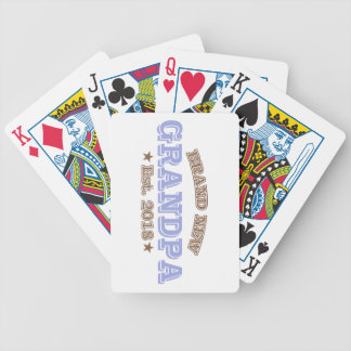 Brand New Grandpa Est. 2018 (Purple) Bicycle Playing Cards