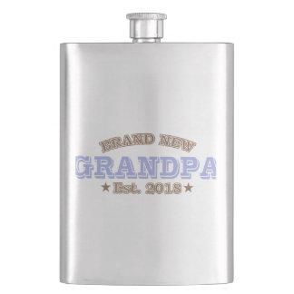 Brand New Grandpa Est. 2018 (Purple) Hip Flask