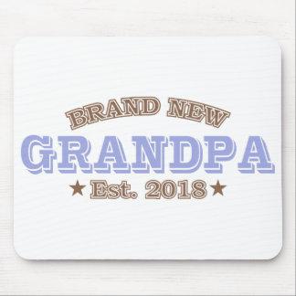 Brand New Grandpa Est. 2018 (Purple) Mouse Pad