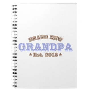 Brand New Grandpa Est. 2018 (Purple) Notebook