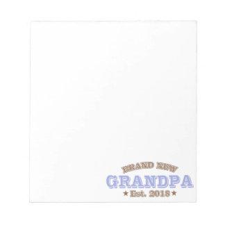 Brand New Grandpa Est. 2018 (Purple) Notepad