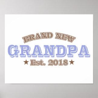 Brand New Grandpa Est. 2018 (Purple) Poster