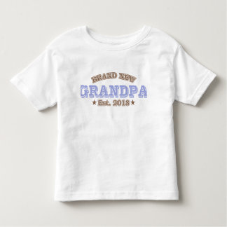Brand New Grandpa Est. 2018 (Purple) Toddler T-shirt
