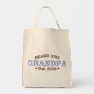 Brand New Grandpa Est. 2018 (Purple) Tote Bag