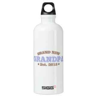 Brand New Grandpa Est. 2018 (Purple) Water Bottle