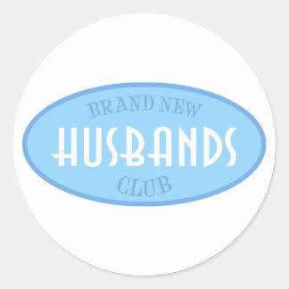 Brand New Husbands Club (Blue) Classic Round Sticker