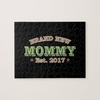 Brand New Mommy Est. 2017 (Green) Puzzles
