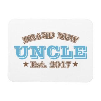 Brand New Uncle Est. 2017 (Blue) Rectangular Photo Magnet