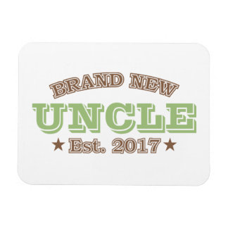 Brand New Uncle Est. 2017 (Green) Rectangular Photo Magnet
