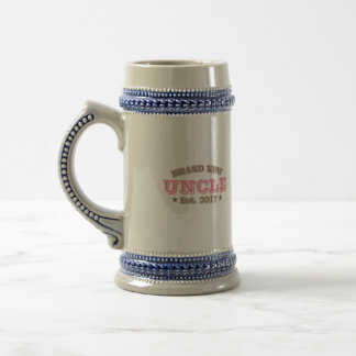 Brand New Uncle Est. 2017 (Pink) Beer Stein