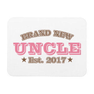 Brand New Uncle Est. 2017 (Pink) Rectangular Photo Magnet