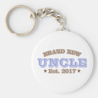 Brand New Uncle Est. 2017 (Purple) Basic Round Button Keychain
