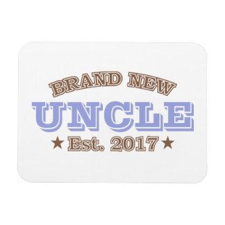 Brand New Uncle Est. 2017 (Purple) Rectangular Photo Magnet
