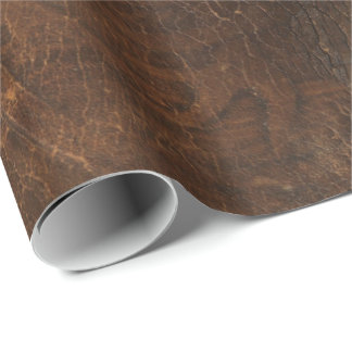 Branded Cowhide Faux Leather Wrapping Paper