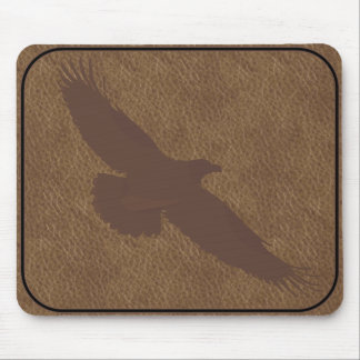 BRANDED LEATHER Eagle MOUSEPAD