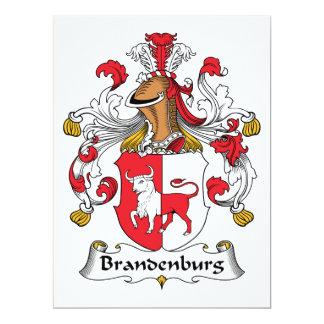 Brandenburg Family Crest Card