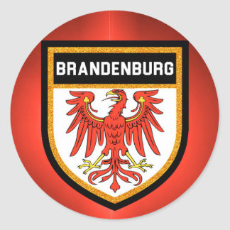Brandenburg Flag Classic Round Sticker