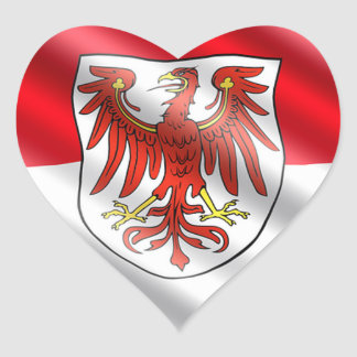 Brandenburg Flag Heart Sticker