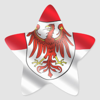 Brandenburg Flag Star Sticker