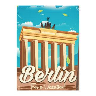 Brandenburg gate ,Berlin cartoon travel poster Canvas Print