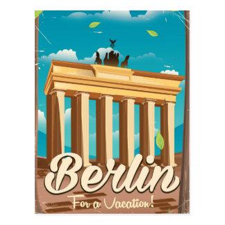 Brandenburg gate ,Berlin cartoon travel poster Postcard