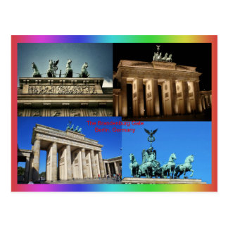 Brandenburg Gate, Berlin, Germany Montage Postcard