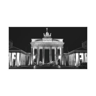 Brandenburg Gate Black And White Canvas Print