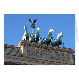 Brandenburg Gate - blank greeting card