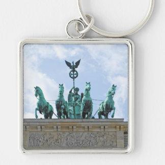 Brandenburg Gate - Brandenburger Tor Silver-Colored Square Keychain