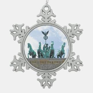 Brandenburg Gate - Brandenburger Tor Snowflake Pewter Christmas Ornament