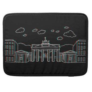 Brandenburg Gate in Berlin 3-D MacBook Pro Sleeves