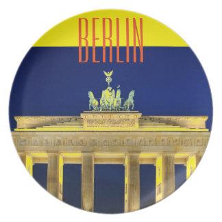 Brandenburg Gate in Berlin, Germany Dinner Plate