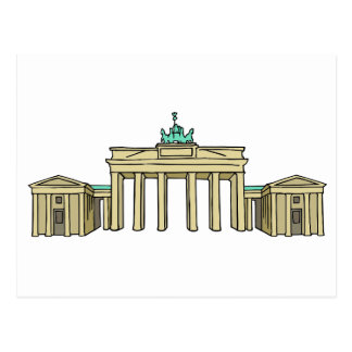 Brandenburg Gate in Berlin Postcard