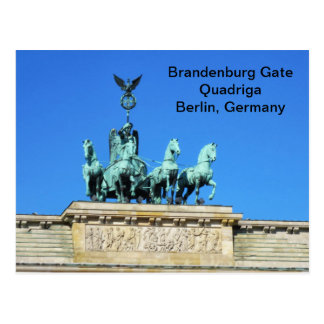 Brandenburg Gate Quadriga in Berlin, Germany Postcard