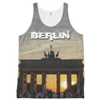 Brandenburg Gate, sunset, BERLIN All-Over-Print Tank Top