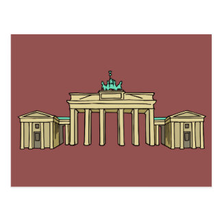 Brandenburger gate Berlin Postcard