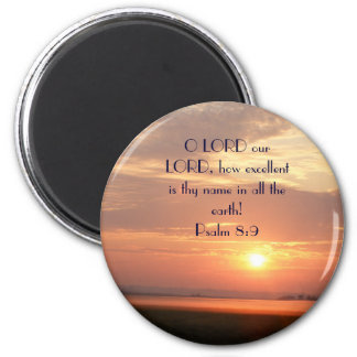 brandi 136, O LORD our... - Customized 2 Inch Round Magnet