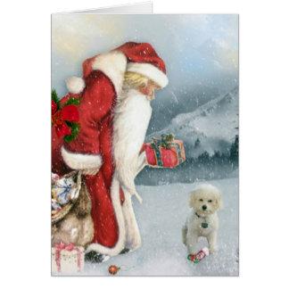 Brandi & Father Christmas Card